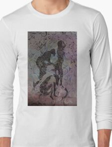 Blue Ladys Figurative Expressions Long Sleeve T-Shirt