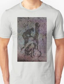 Blue Ladys Figurative Expressions Unisex T-Shirt