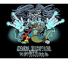 Wizard and Three-Headed Monster logo Photographic Print
