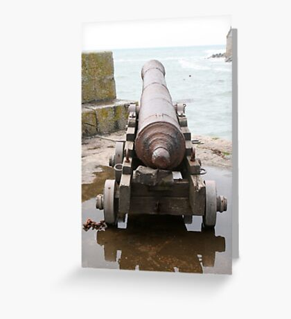 Looking Down a Cannon Greeting Card