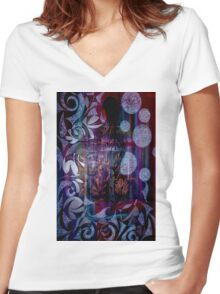 Dreaming Figurative Michaela Miller Artist Women's Fitted V-Neck T-Shirt