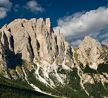 rosengarten mountain range by peterwey