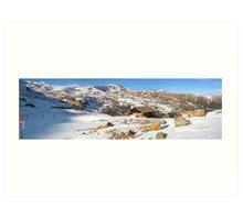 Winter Mountainscape Art Print