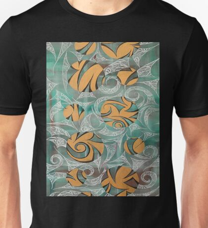 Entwine-Green-Pattern-Light Michaela Miller Artist Unisex T-Shirt