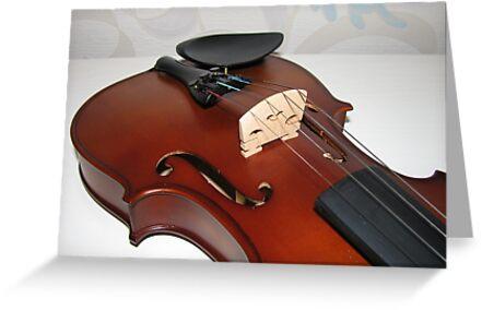 Violin Bridge and Strings by MidnightMelody