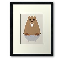 GROUNDHOG & SHADOW Framed Print
