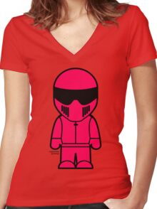 The Stig - Pink Stig Women's Fitted V-Neck T-Shirt
