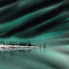 Northern Light Lake Cabin by David Hayward