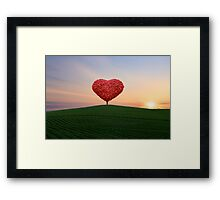The little red heart tree  Framed Print
