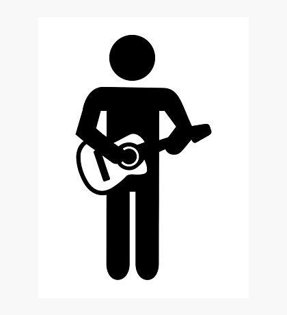 Band guitarist Photographic Print