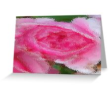 Pink Rose under Glass Greeting Card