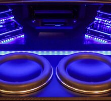 Big Bass Blu-light speakers by ceejaygraham