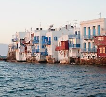 romance in little venice, mykonos, greece by tara romasanta