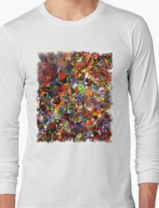 Abstract Original Art Titled; Wild Colors  Long Sleeve T-Shirt