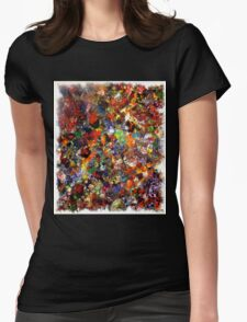 Abstract Original Art Titled; Wild Colors  Womens Fitted T-Shirt