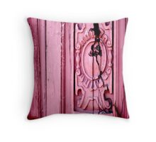 Weathered Cracked and Vibrant Throw Pillow