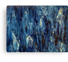 Abstract Art Acrylic Painting Original Titled: Blue Ocean Canvas Print