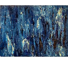 Abstract Art Acrylic Painting Original Titled: Blue Ocean Photographic Print