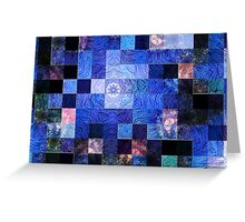Blue Mosaic-Available As Art Prints-Mugs,Cases,Duvets,T Shirts,Stickers,etc Greeting Card
