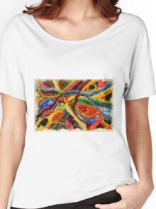 Abstract Art Acrylic Painting Original Canvas Art Titled: Wild Colors Women's Relaxed Fit T-Shirt