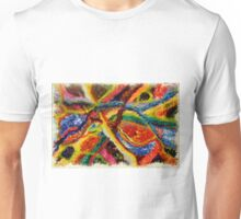 Abstract Art Acrylic Painting Original Canvas Art Titled: Wild Colors Unisex T-Shirt