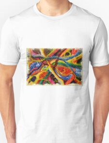 Abstract Art Acrylic Painting Original Canvas Art Titled: Wild Colors T-Shirt