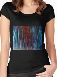 Abstract Painting Modern Original Art Acrylic Titled: Wonderall Women's Fitted Scoop T-Shirt