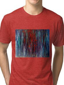 Abstract Painting Modern Original Art Acrylic Titled: Wonderall Tri-blend T-Shirt