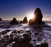 Sunset at Rodeo Beach by heyengel