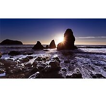 Sunset at Rodeo Beach Photographic Print