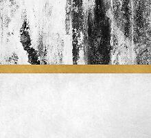 Golden Line / White by Elisabeth Fredriksson