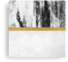 Golden Line / White Canvas Print