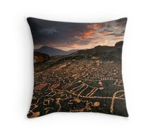 Paiute Petroglyphs and the Eastern Sierras Throw Pillow