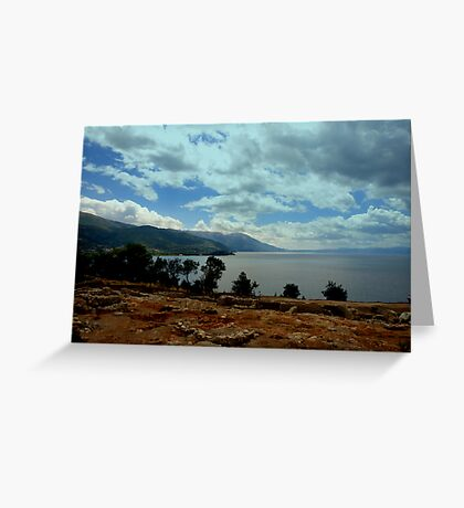 Above Ohrid Greeting Card
