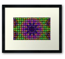 Colour Weave-Available As Art Prints-Mugs,Cases,Duvets,T Shirts,Stickers,etc Framed Print
