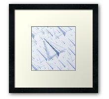 Paper Airplane 100 Framed Print
