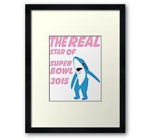 Super Bowl Star The Shark Framed Print