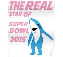 Super Bowl Star The Shark Poster