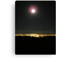 Moon over Surfers Paradise Canvas Print