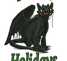 Toothless - Happy Holidays by tygerwolfe