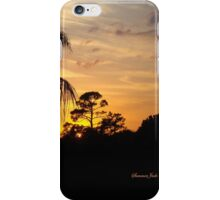 Fast Moving Clouds at Sunset iPhone Case/Skin