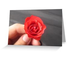 SAY IT WITH A ROSE - HAPPY VALENTINES DAY Greeting Card
