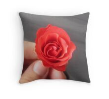SAY IT WITH A ROSE - HAPPY VALENTINES DAY Throw Pillow