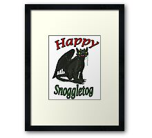 Toothless - Happy Snoggletog Framed Print