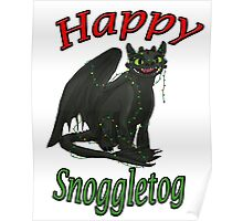 Toothless - Happy Snoggletog Poster