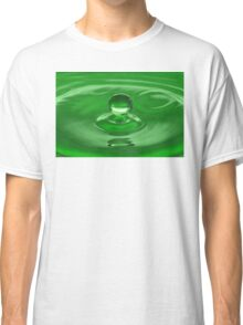 Green Water Drop Classic T-Shirt