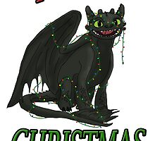 Toothless - Merry Christmas by tygerwolfe