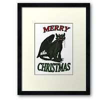 Toothless - Merry Christmas Framed Print