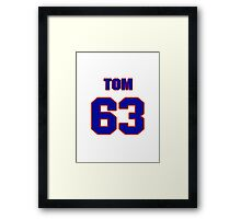 National football player Justin Canale jersey 63 Framed Print