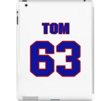 National football player Justin Canale jersey 63 iPad Case/Skin